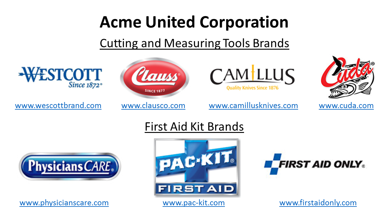 acme united corporation Acme made 51013 first aid disposable instant cold pack acme united corporation sting relief pad acme united paper punches.