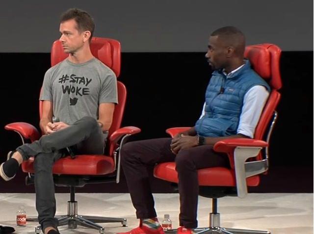 Twitter CFO Jack Dorsey and Black Lives Matter activist Deray Mckesson, via Bing.