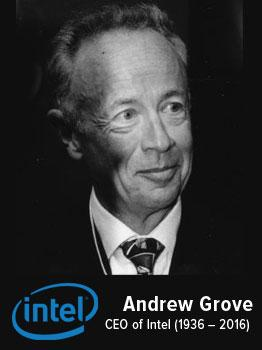 Andrew Grove CEO of Intel (1936 - 2016)