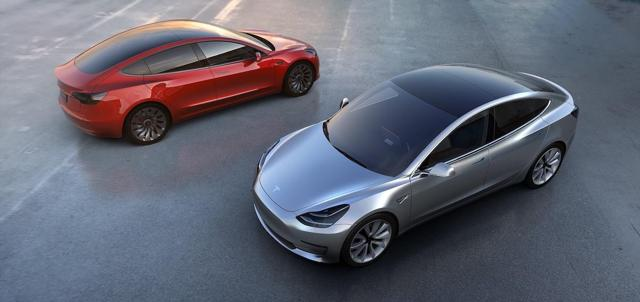 Two Model 3 cars - Tesla Motors