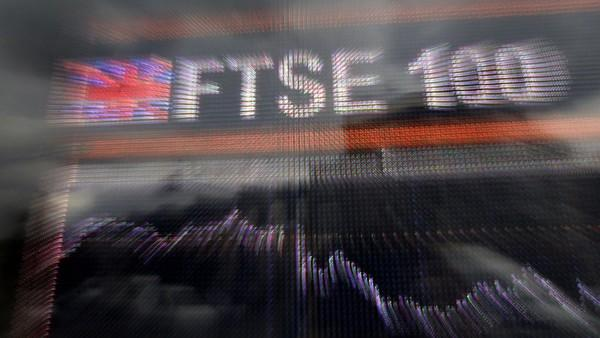 """A large computerised display of the British FTSE 100 index is pictured in London, on September 8, 2008. The London Stock Exchange said Monday it had been forced to halt trade after experiencing connectivity problems with some clients. """"There was a connectivity issue this morning which affected some clients so we have suspended connectivity in order to bring it back in a controlled fashion,"""" an LSE spokeswoman told AFP. At its suspension the FTSE 100 showed a gain of 3.81 percent at 5,440.20 points. AFP PHOTO/Shaun Curry (Photo credit should read SHAUN CURRY/AFP/Getty Images)"""