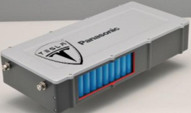 A Tesla panasonic battery