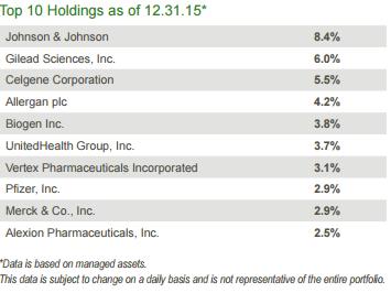THQ Top Ten holdings