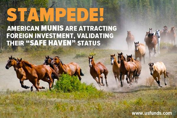 Stampede! American Munis are attracting foreign investment, validating their Safe Haven status