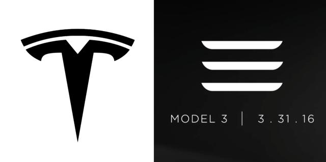 Tesla Model 3 Logos