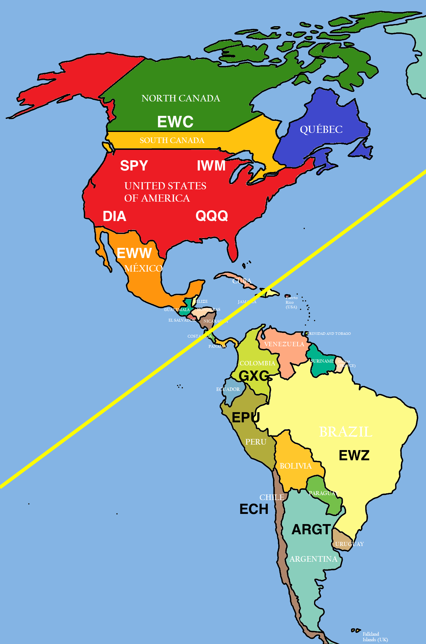 differences and similarities between south america and north america North and south pole  this fundamental difference is the reason for many of the other differences between the  north america and.