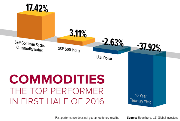 Commodities, the Top Performer in First Half of 2016