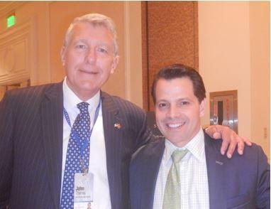 John Thomas with Anthony Scaramucci