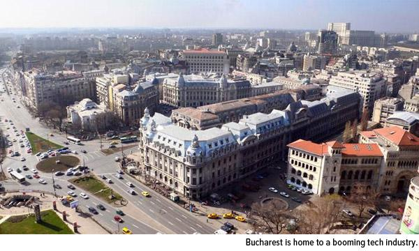 Bucharest is home to a booming tech industry.