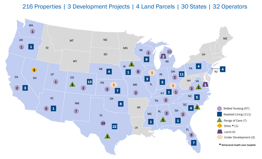 States With The Most Properties Leased