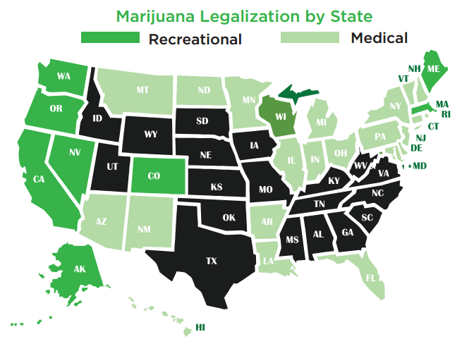 the potential benefits of the legalization of marijuana in america Because the marijuana plant contains chemicals that may help treat a range of illnesses and symptoms, many people argue that it should be legal for medical purposes in fact, a growing number of states have legalized marijuana for medical use.