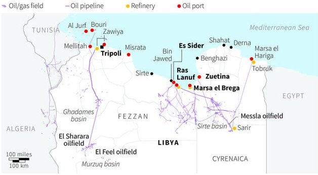 Forces allied to Libyan General Khalifa Haftar retake two key oil terminals