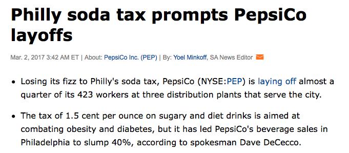 Image result for philadelphia layoffs soda tax