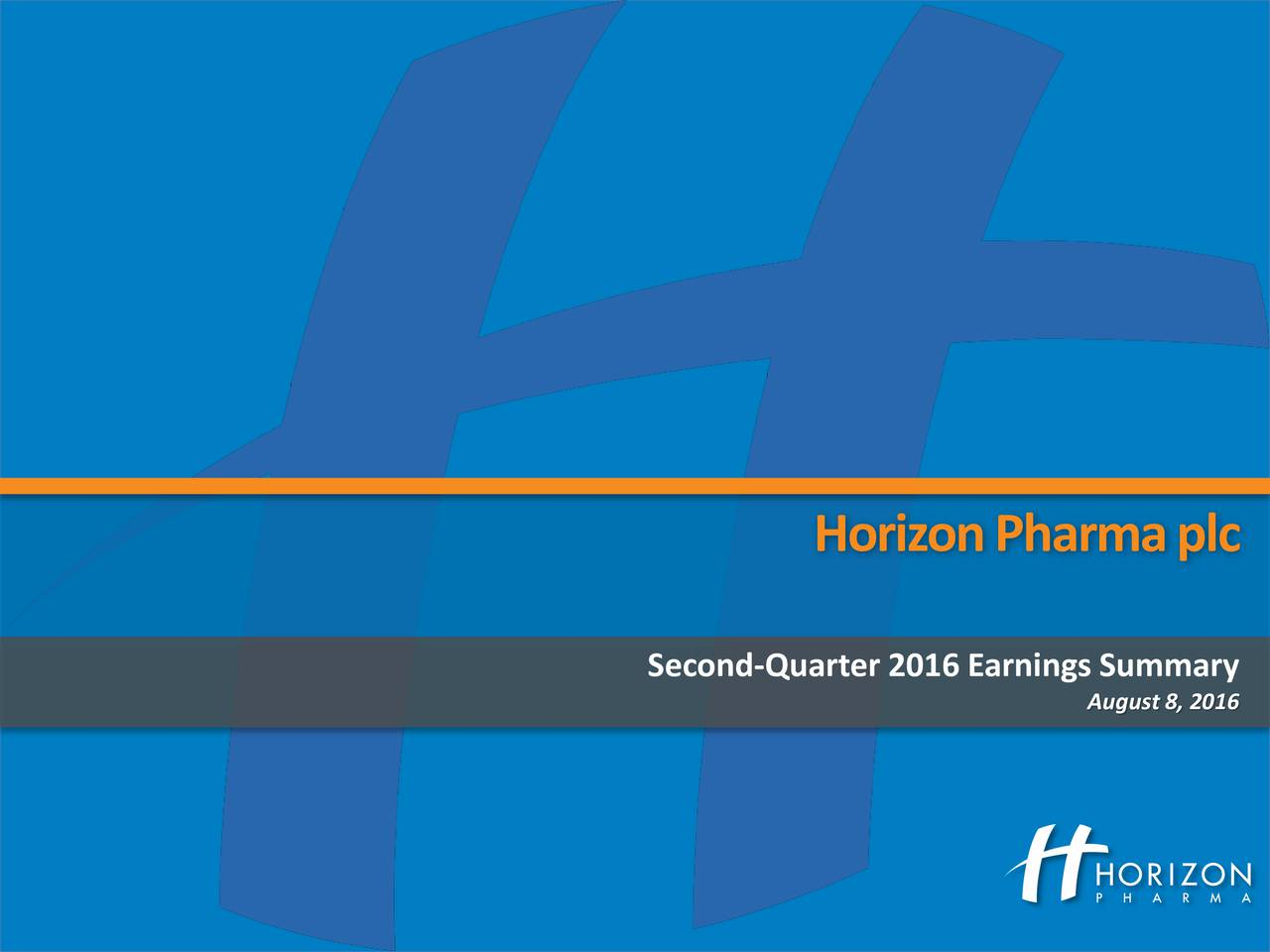 Second-Quarter 2016 Earnings Summary August8, 2016