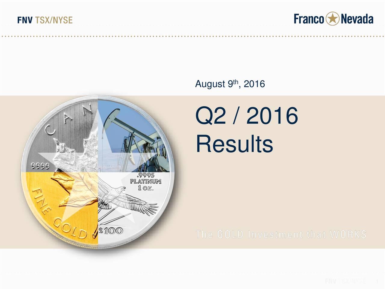 Q2 / 2016 Results