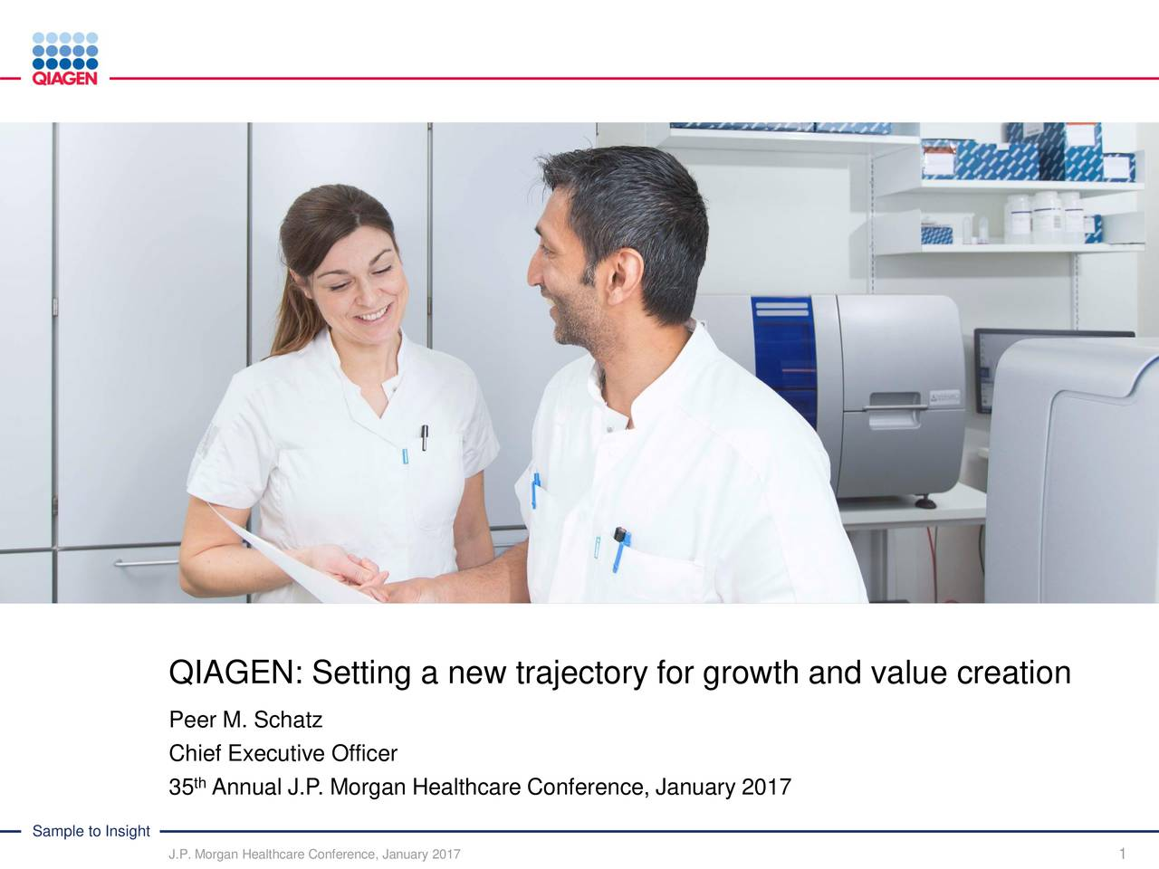 Qiagen NV (QGEN) presents at 35th Annual J.P. Morgan ...
