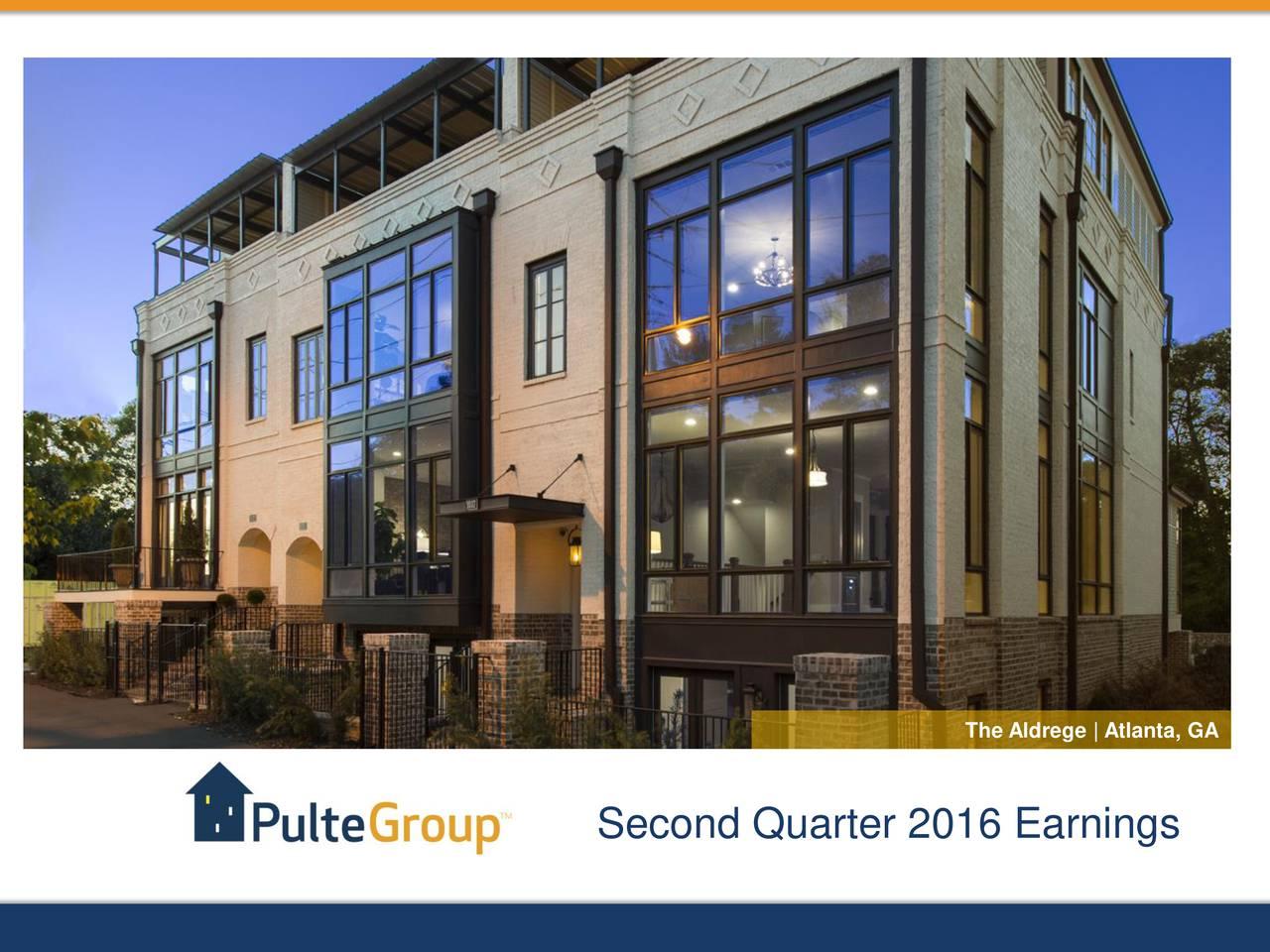 Second Quarter 2016 Earnings