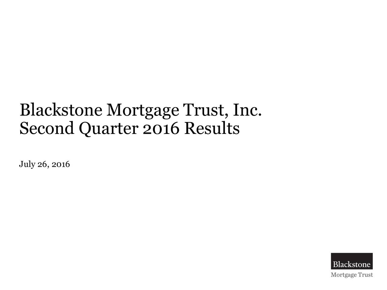 Second Quarter 2016 Results July 26, 2016