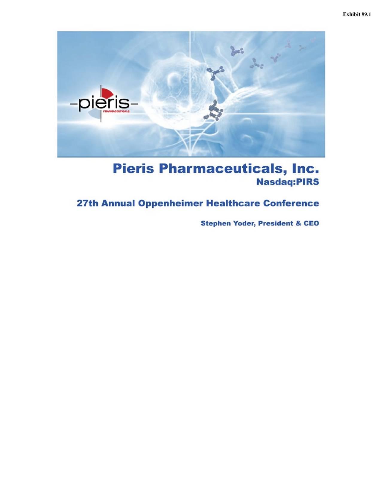 Pieris pharmaceuticals inc ipo