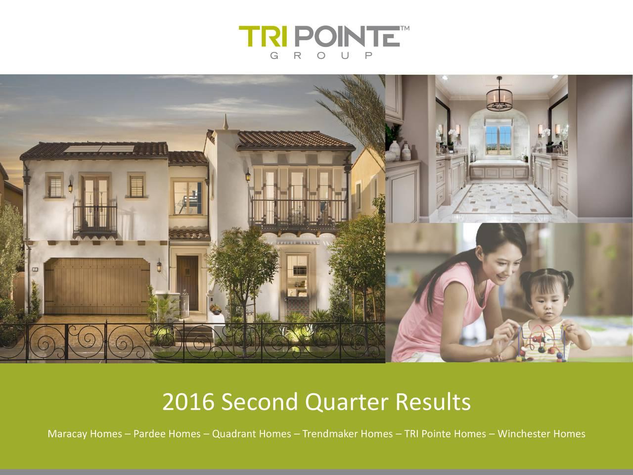 Maracay Homes  Pardee Homes  Quadrant Homes  Trendmaker Homes  TRI Pointe Homes  Winchester Homes