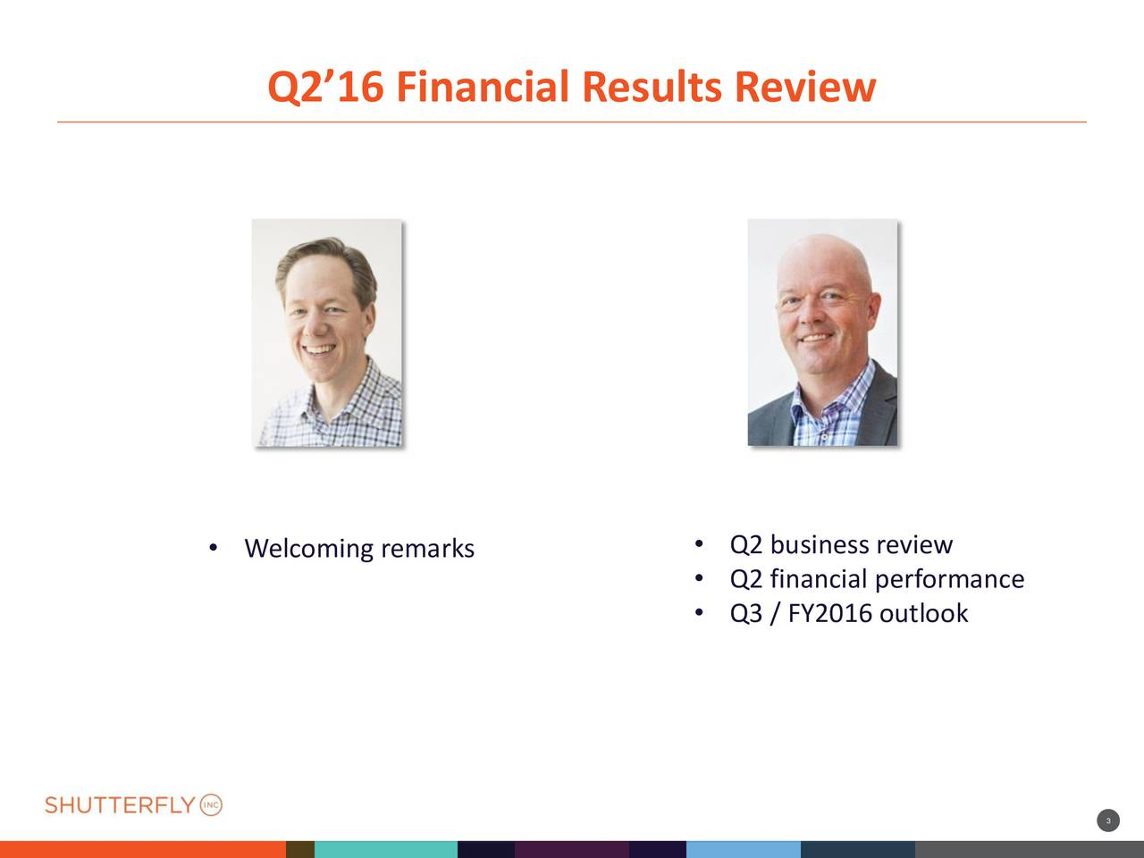 255 83 255 35 Q216 Financial Results Review 21 85 17 194 44 185 88 64 89 23 91 61 27 108 16 173 53 222 Q2 business review Welcoming remarks Q2 financial performance Q3 / FY2016 outlook 37 60 79 80 63 25