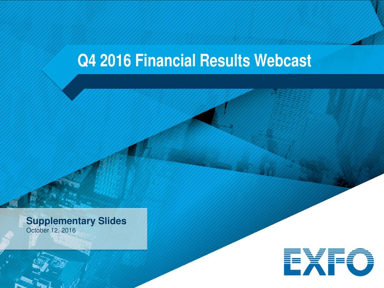Supplementary Slides October 12, 2016