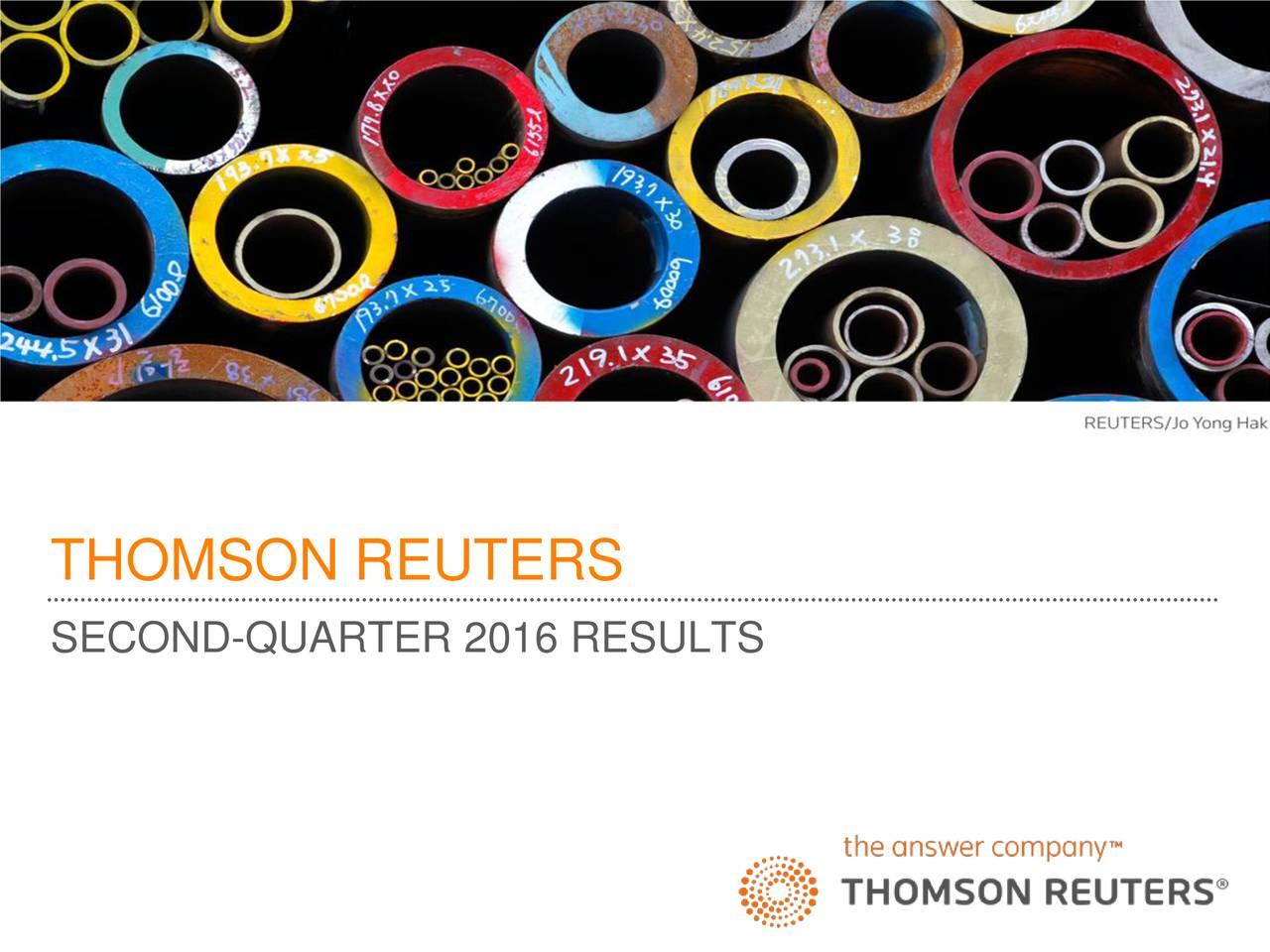 SECOND-QUARTER 2016 RESULTS