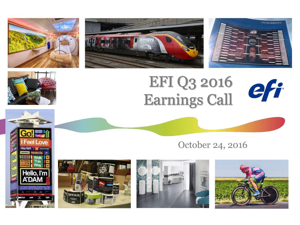 Earnings Call October 24, 2016