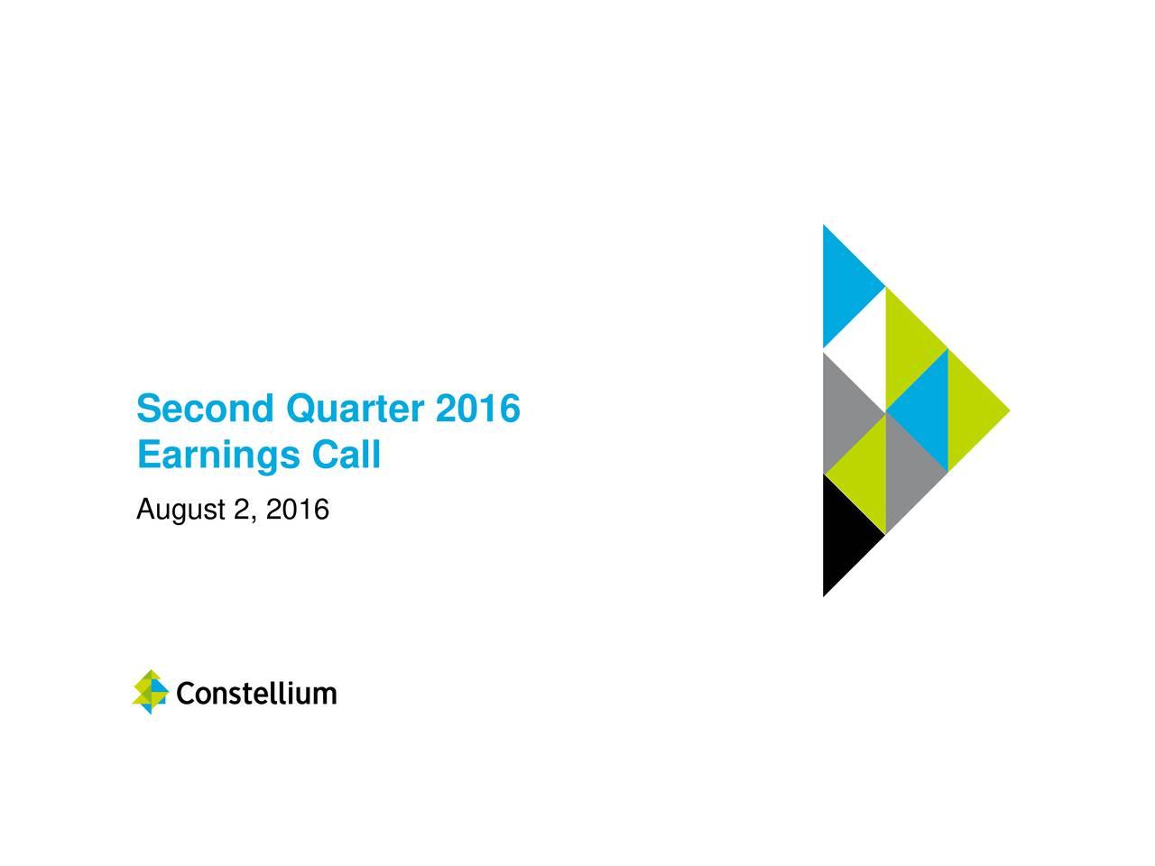 Earnings Call August 2, 2016