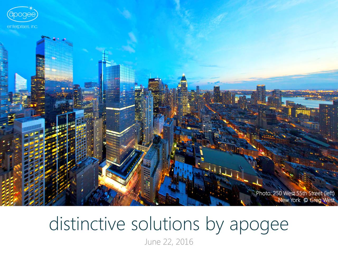 New York  Greg West distinctive solutions by apogee June 22, 2016