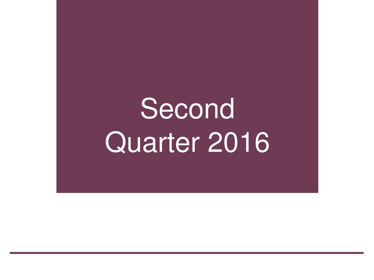 Quarter 2016