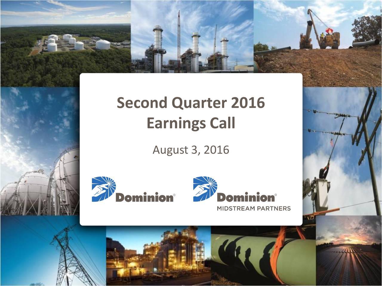 Earnings Call August 3, 2016