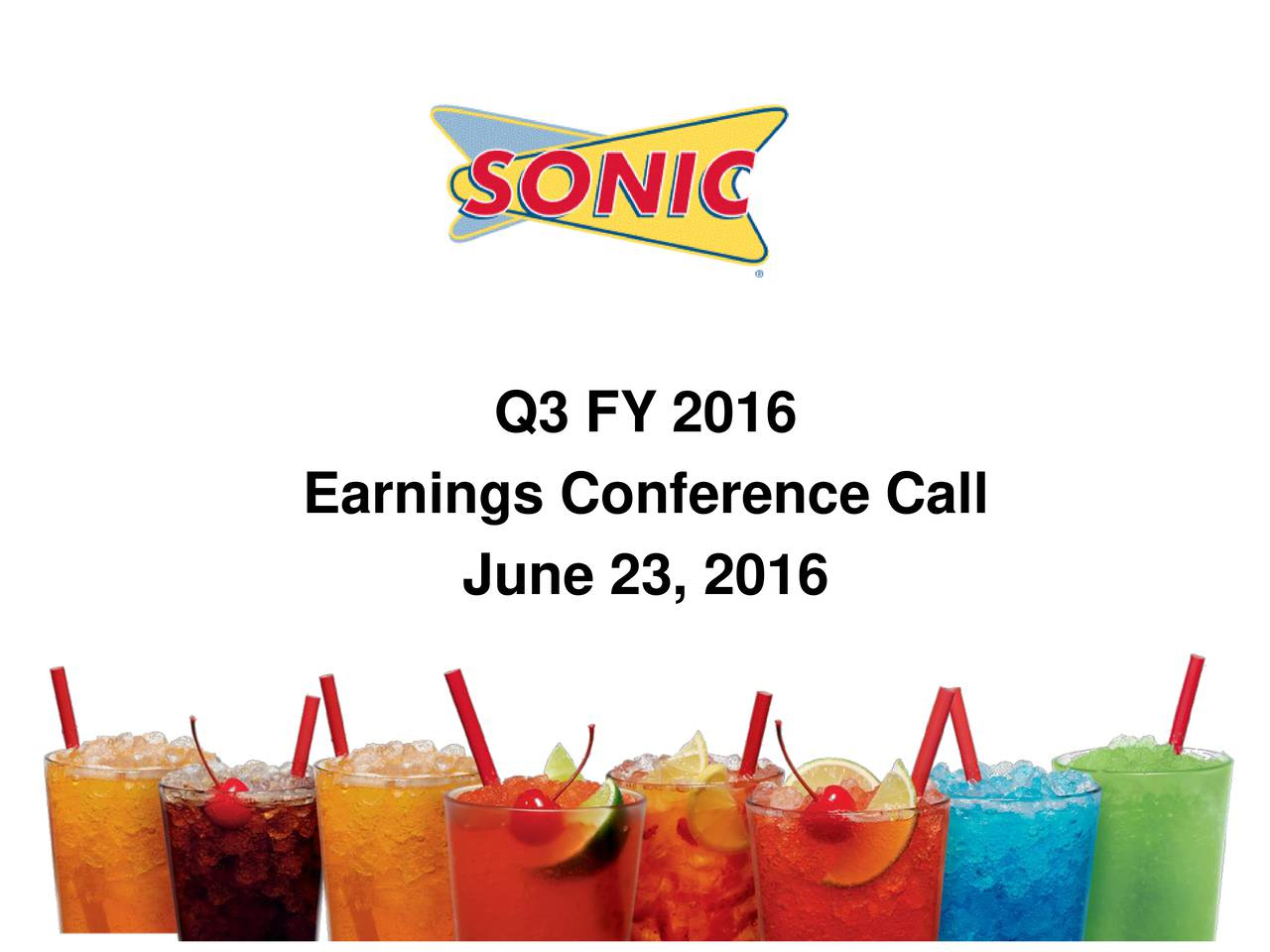 Earnings Conference Call June 23, 2016